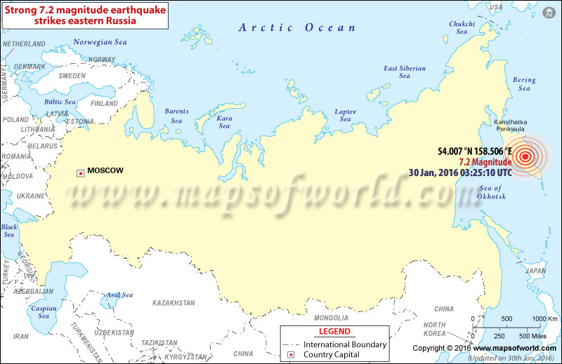 M7.2 earthquake Russia