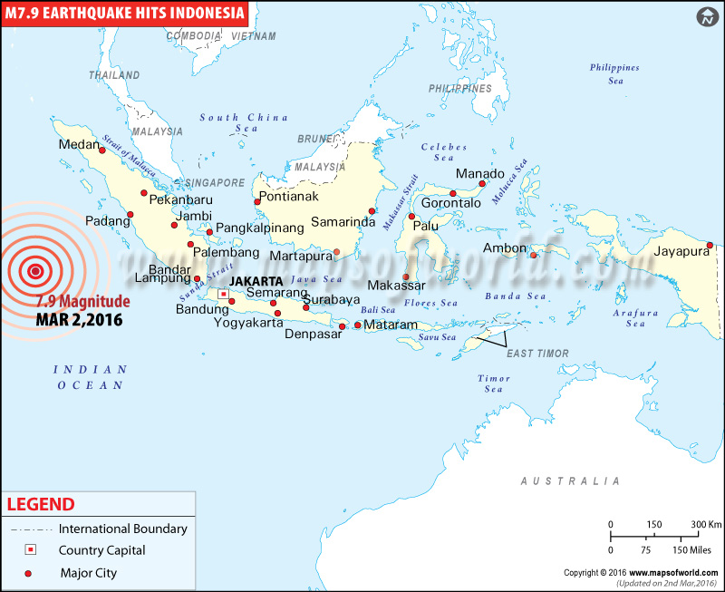 M7.9 Earthquake in Indonesia