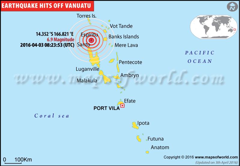 Earthquakes in Vanuatu