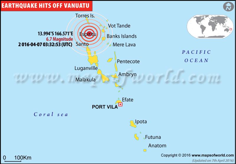 M6.7 earthquake in Vanuatu