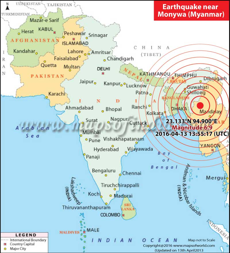 6.9 magnitude earthquake hits Myanmar