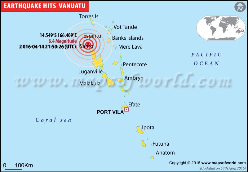 6.4-magnitude earthquake hits Vanuatu