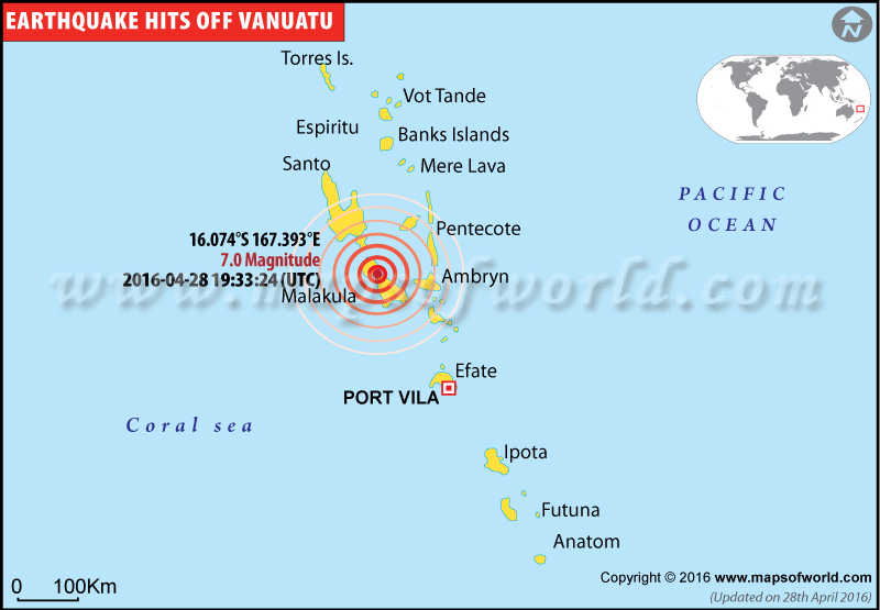 7.0-magnitude earthquake hits Vanuatu on Apr 28, 2016