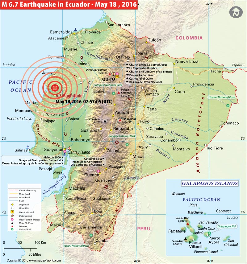 Ecuador earthquake map areas affected by earthquake in ecuador location map of earthquake in ecuador gumiabroncs Gallery