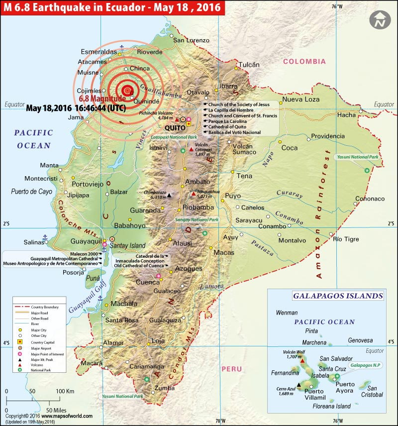 Ecuador earthquake map areas affected by earthquake in ecuador location map of earthquake in ecuador gumiabroncs Choice Image