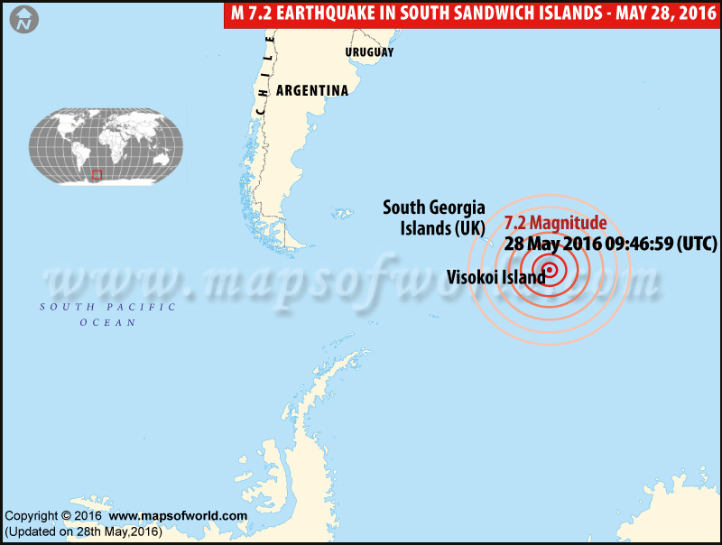 Earthquake South Sandwich Islands