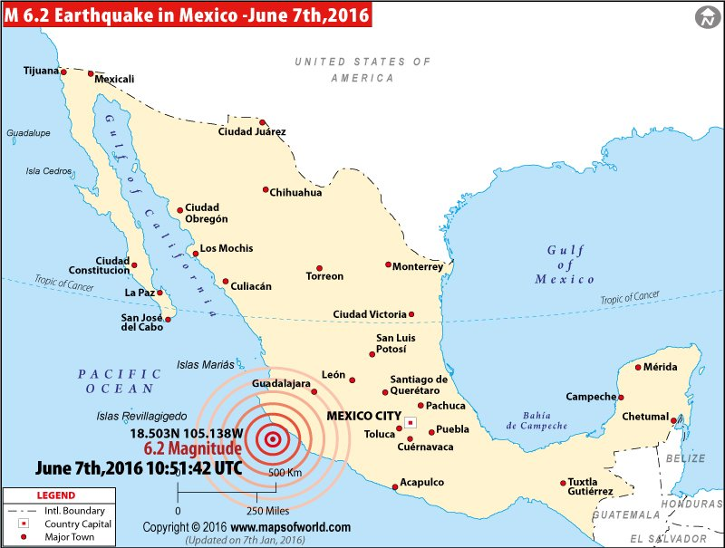 M6.2 earthquake in Mexico