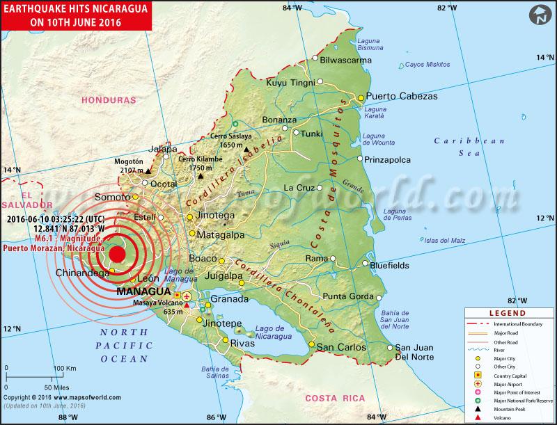 6.1-magnitude earthquake strikes Nicaragua
