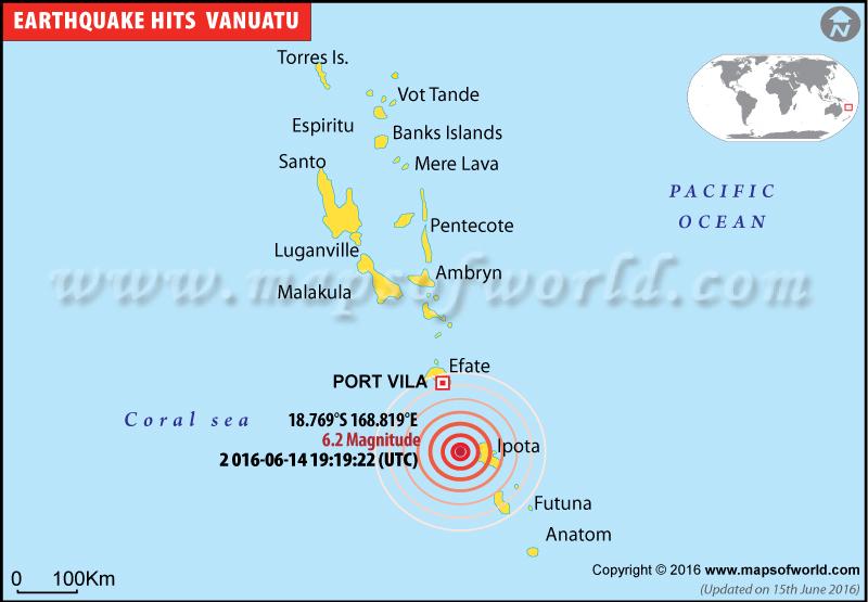 Magnitude-6.2 earthquake hits Vanuatu