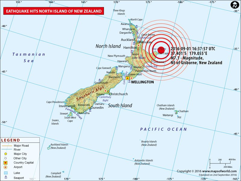 M7.1 Earthquake in New Zealand