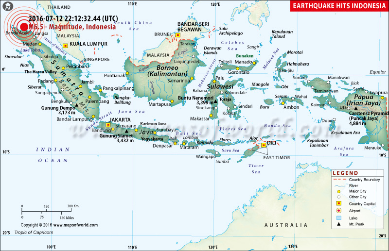 Location Map Of M 6.5 Earthquake In Aceh, Indonesia