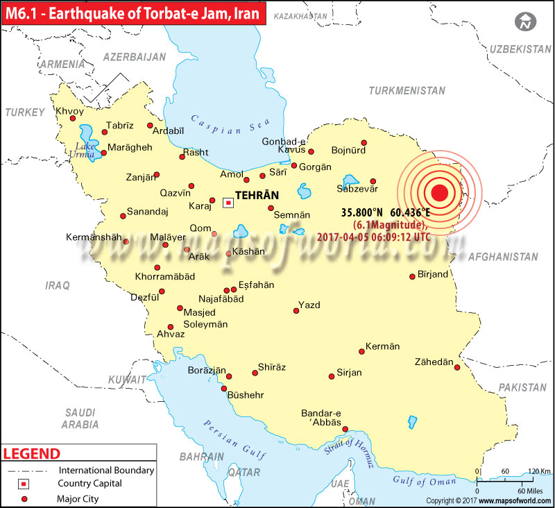 Iran Earthquake Map Areas Affected By Earthquake In Iran - Map of iran
