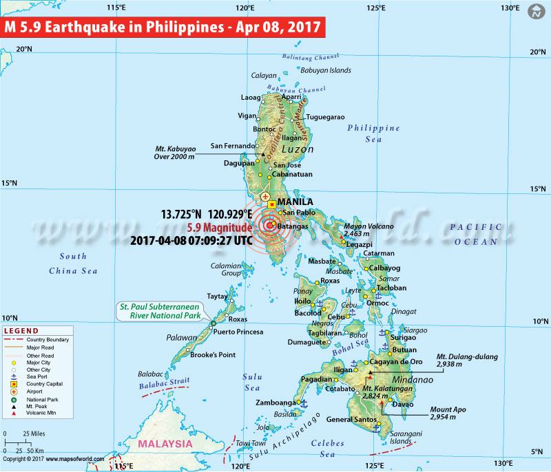 Philippines Earthquake Map
