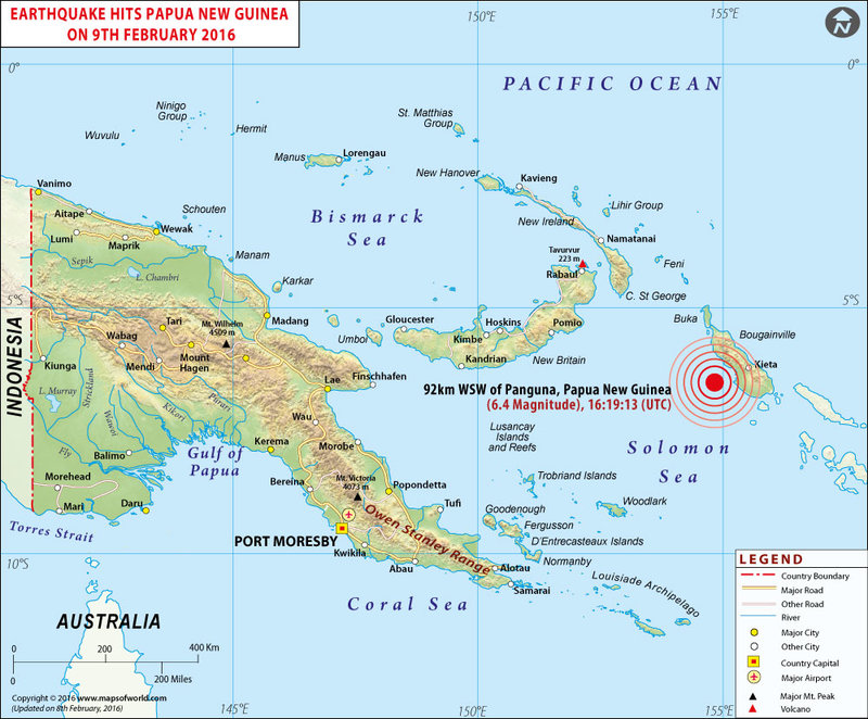 Earthquakes in Papua New Guinea