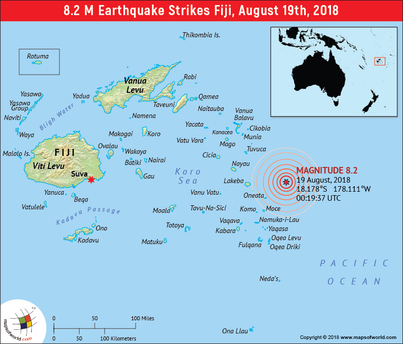 M8.2 Earthquake - Fiji region (19 Aug 2018 00:19:37 UTC)