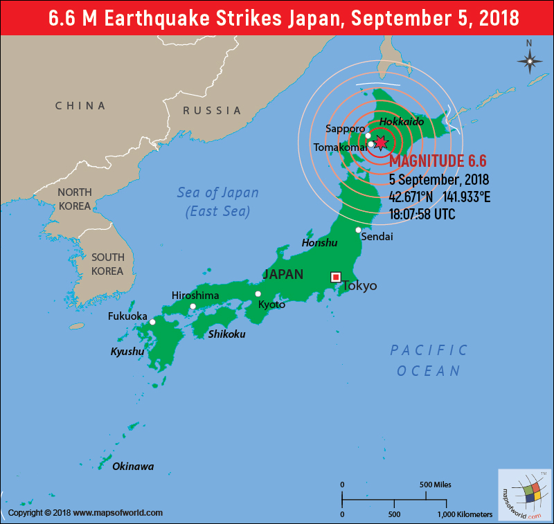 M 6.6 Earthquake in Japan - 5 Sept, 2018