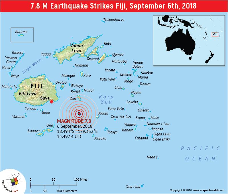 Fiji earthquake (Magnitude 7.8)