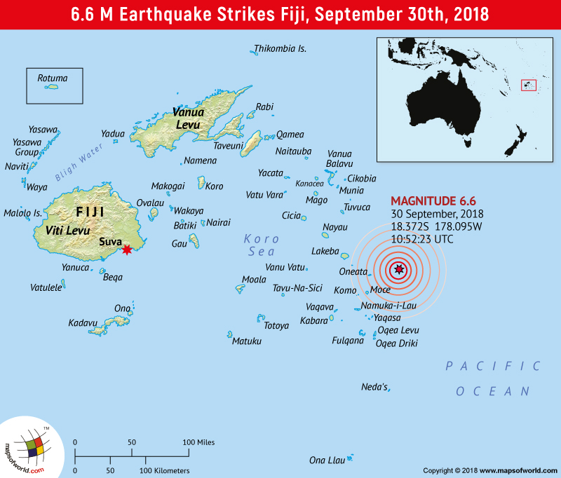 Earthquakes in Fiji | Areas affected by Earthquakes in Fiji