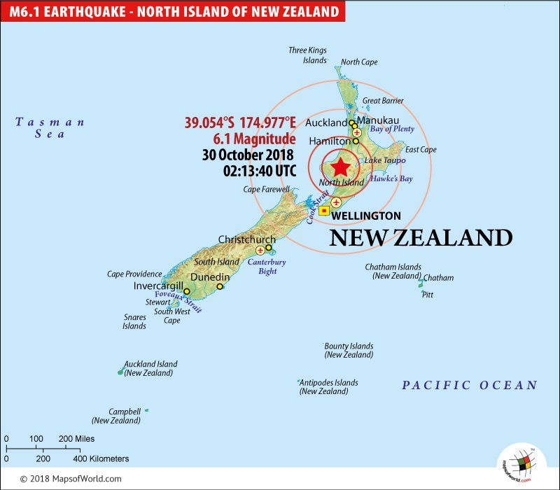 Christchurch New Zealand Map New Zealand Earthquake Map, Area affected by Earthquake in New Zealand