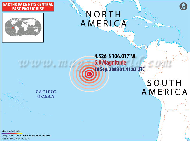 M6.0 Earthquake hits Central East Pacific Rise- Sep18, 2008