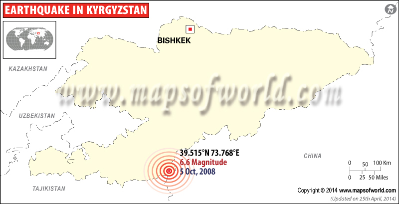 M6.6 Eartquake in Kyrgyzstan