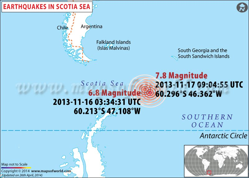 earthquakes in scotia sea