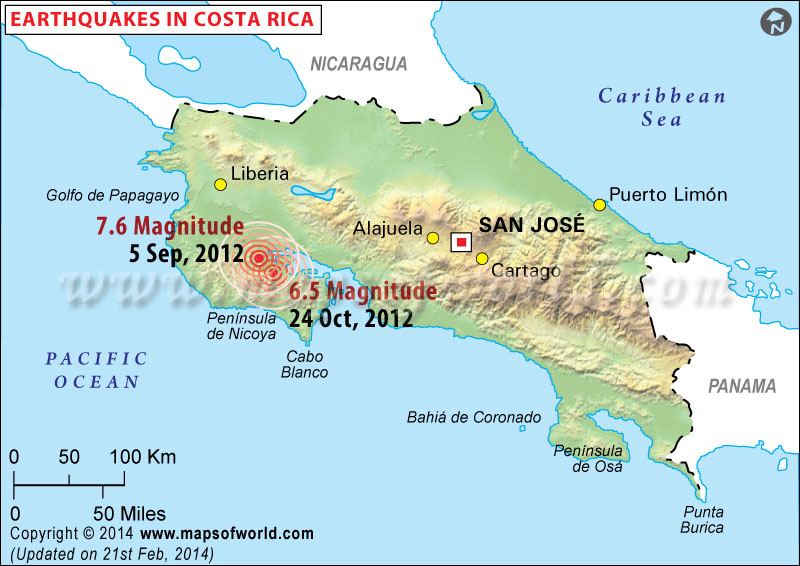 Historic Earthquakes in Costa Rica