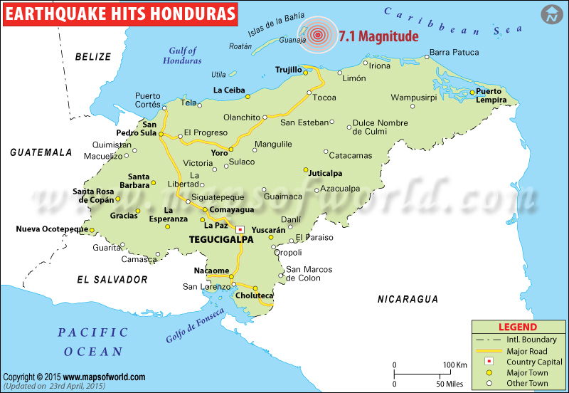 M7.1 Earthquake in Honduras
