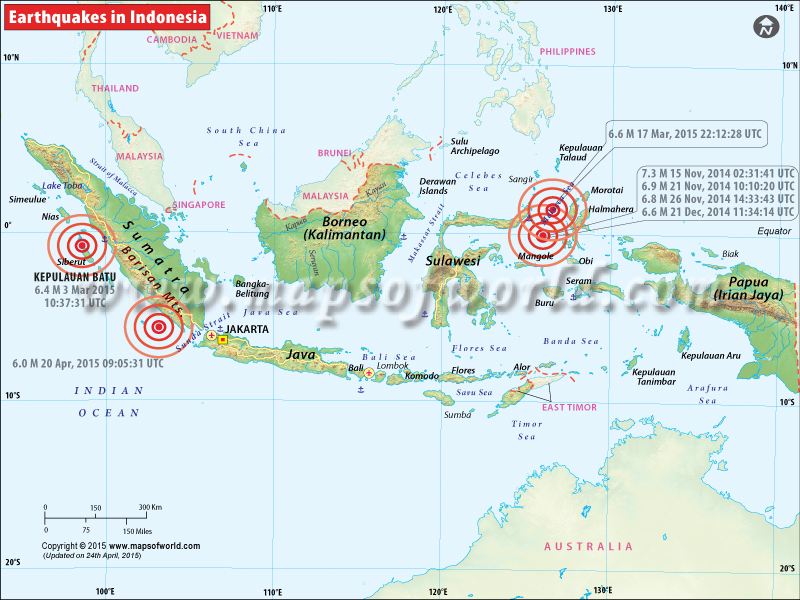 History of Earthquakes in Indonesia
