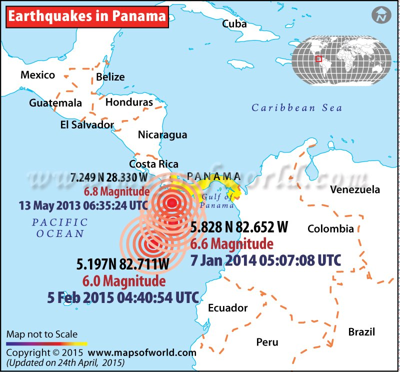 History of Earthquakes in Panama