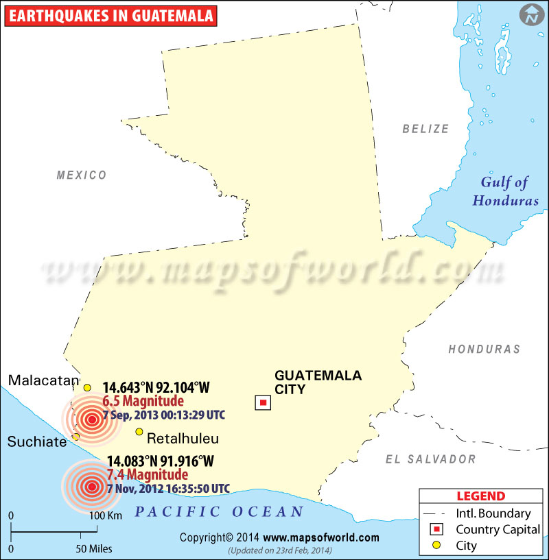 Historic Earthquakes in Guatemala
