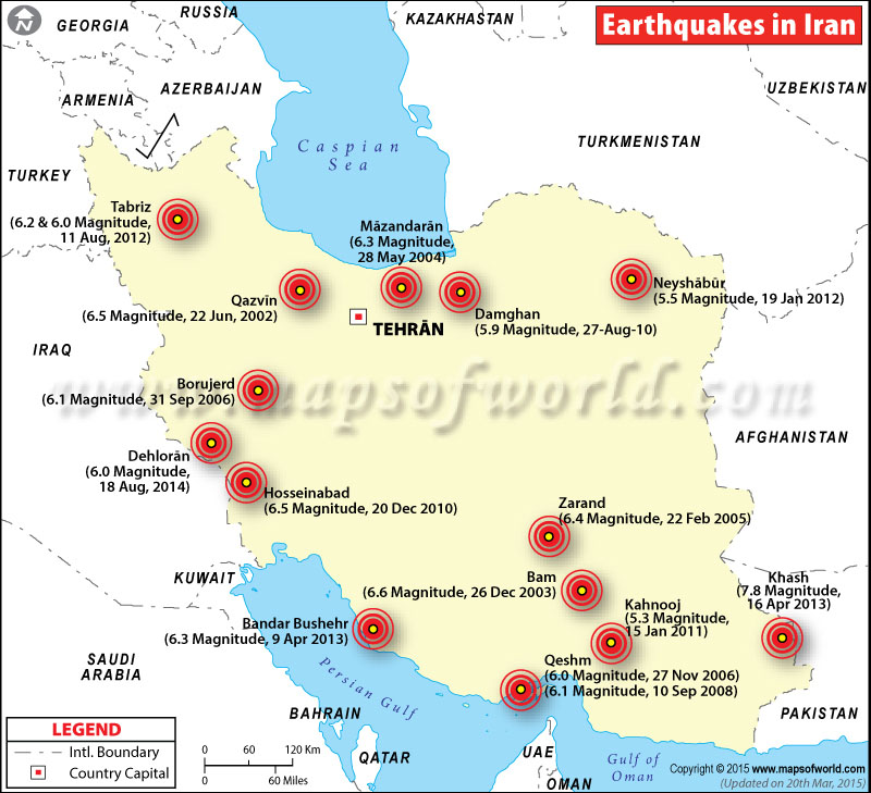 Historic Earthquakes in Iran