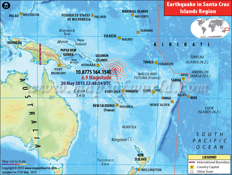 M6.9 Earthquakes in Santa Cruz Islands