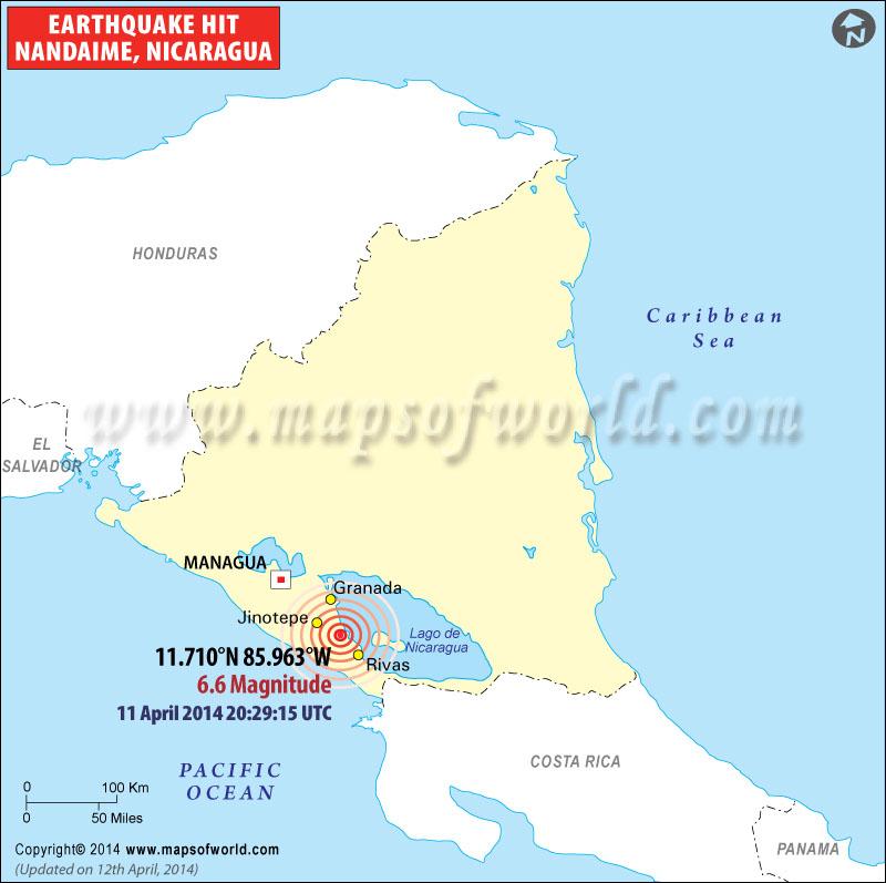 M6.6 Earthquake Hits Nicaragua on 2014-04-11 20:29:15 UTC