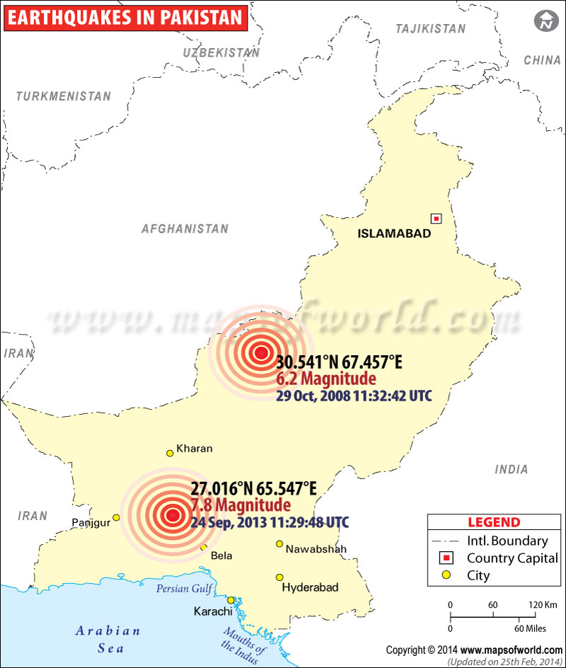 Historic Earthquakes in Pakistan