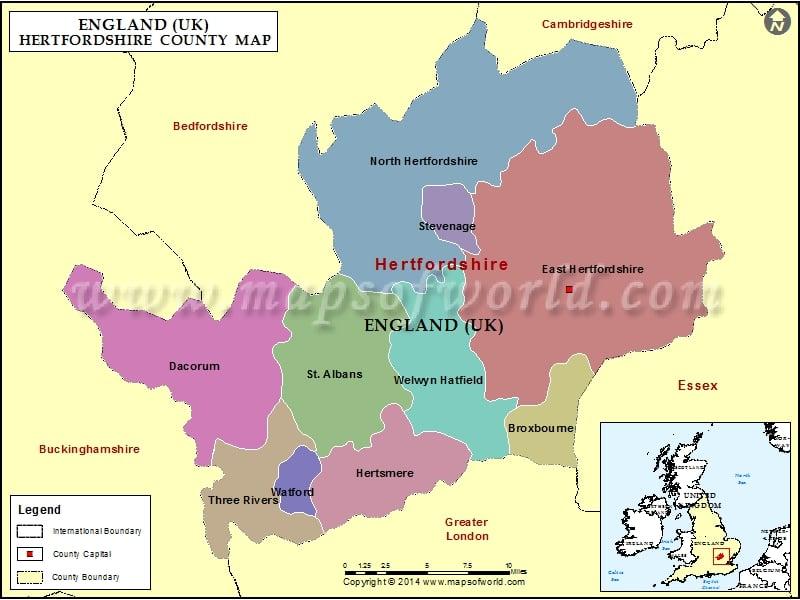 Hertfordshire south east england