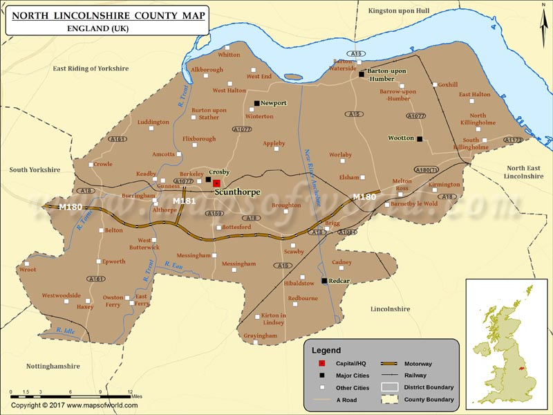 North Lincolnshire Map