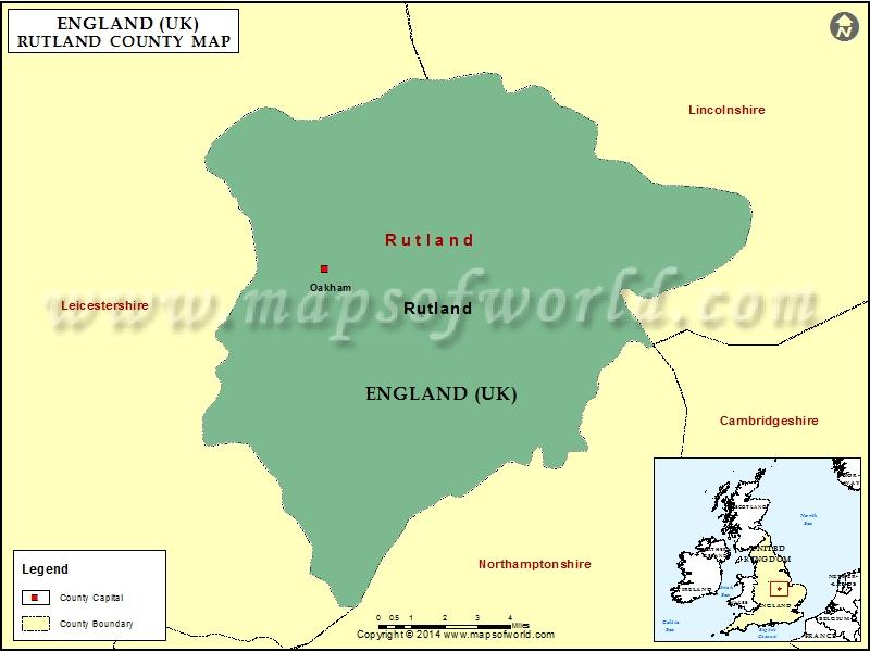 Map of Rutland