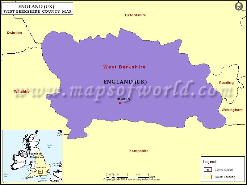 Map of West Berkshire