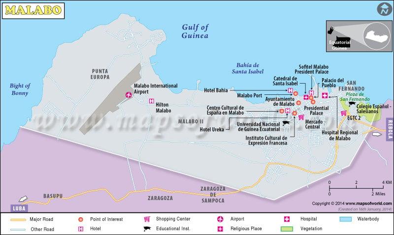 Map of Malabo