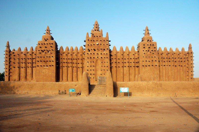 Mezquita Barro Djenné, Malí