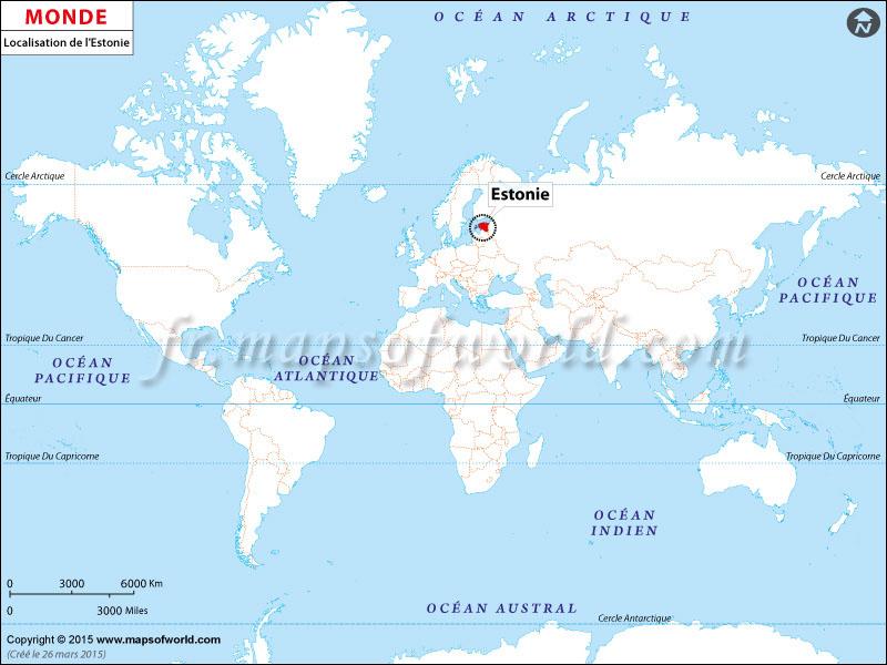 Où est l'Estonie | Localisation de l'Estonie sur la carte mondiale