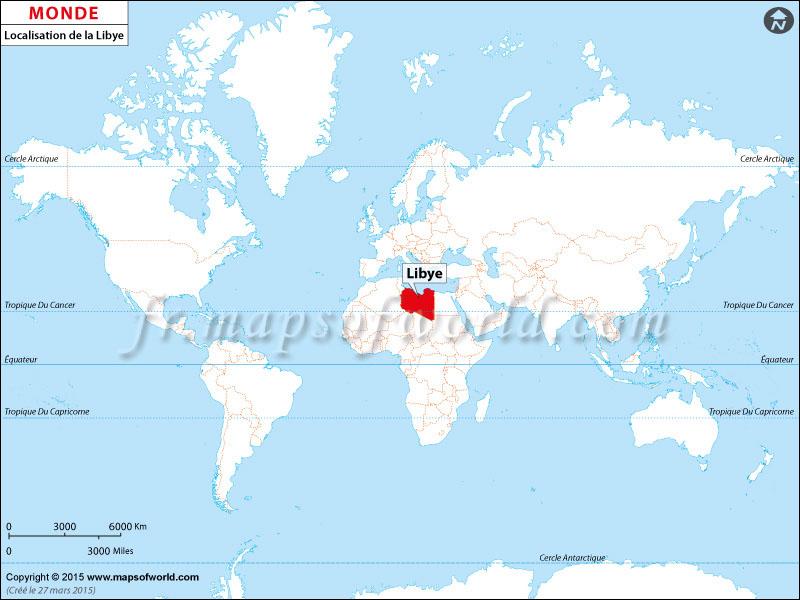 Où est la Libye | Localisation de la Libye sur la carte du monde