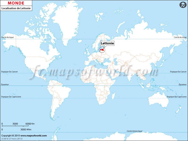 Où est la Lettonie