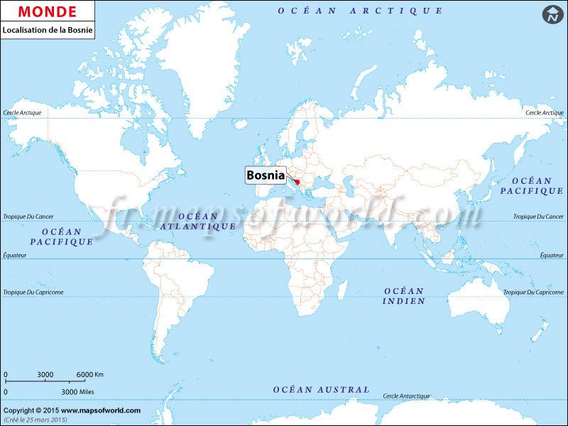 Où est la Bosnie-Herzégovine