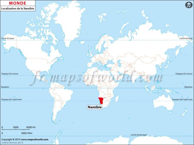 Où est la Namibie