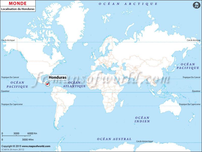 Où est Honduras