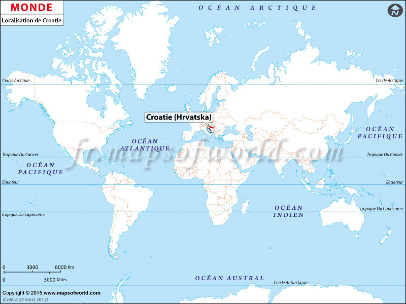 Carte Croatie Dans Le Monde.Ou Est Croatie Carte De Localisation De La Croatie
