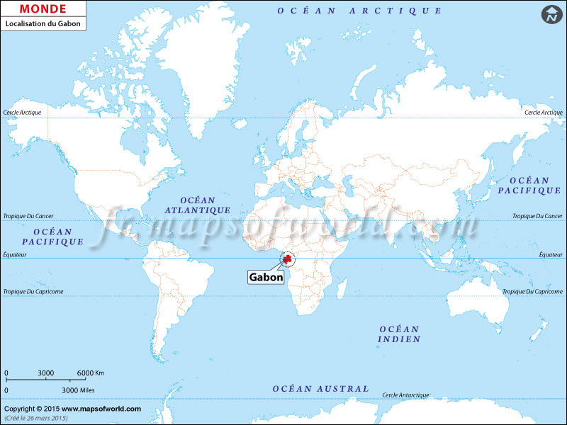 Où est Gabon sur la carte du monde