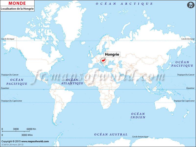 Carte Du Monde Hongrie.Ou Est La Hongrie Localisation De La Hongrie Sur La Carte